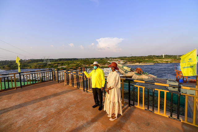 Karuma Hydro Power Dam Project - Tour - Museveni with Daughter Patience -  Karuma - 01