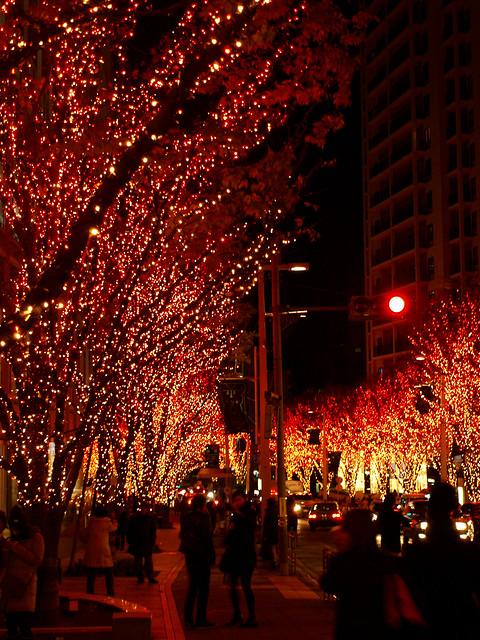 Red lights in Tokyo