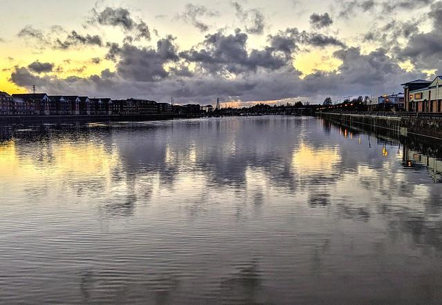 Cloud patterns at Preston Docks