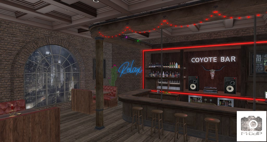 Preview – M-BdP – Coyote Bar Backdrop for La vie en pose – Event – January 2021