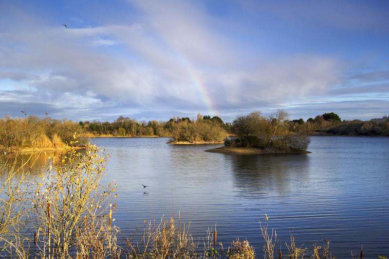 Rainbow at the Cotswold Water Park