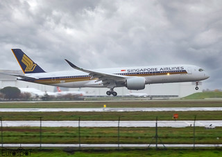 F-WZGC / 9V-SHT Airbus A350-941 Singapore Airlines s/n 464 - First flight - * Toulouse Blagnac 2020 *