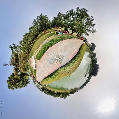 tinyplanet planet greenplanet green natore bangladesh park greenvalleypark natorebangladesh ayonsahaa ayonsahaphotography ayonsaha ayon ayonsahaphotographs tinyplanetayon theta thetaplus 360 bangladesh360