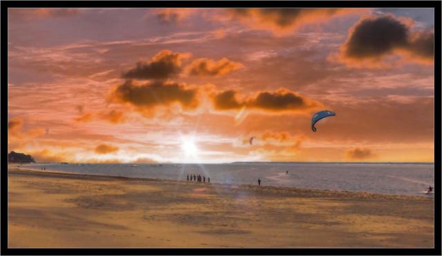 Coucher de soleil sur le Bassin d'Arcachon...