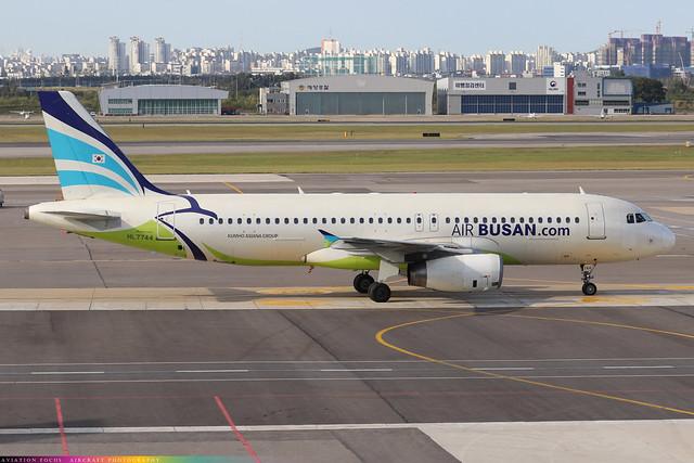 HL7744  -  Airbus A320-232  -  Air Busan  -  GMP/RKSS 6/10/19