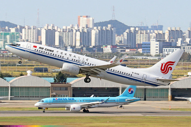 B-6106  -  Boeing 737-89L (WL)  -  Air China  -  GMP/RKSS 6/10/19