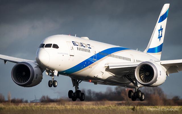 CDG | El Al Israel Boeing 787-8 Dreamliner | 4X-ERC
