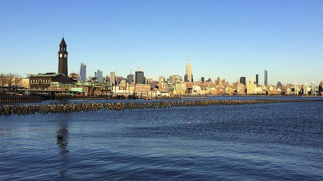 Hoboken NJ Skyline and Terminal