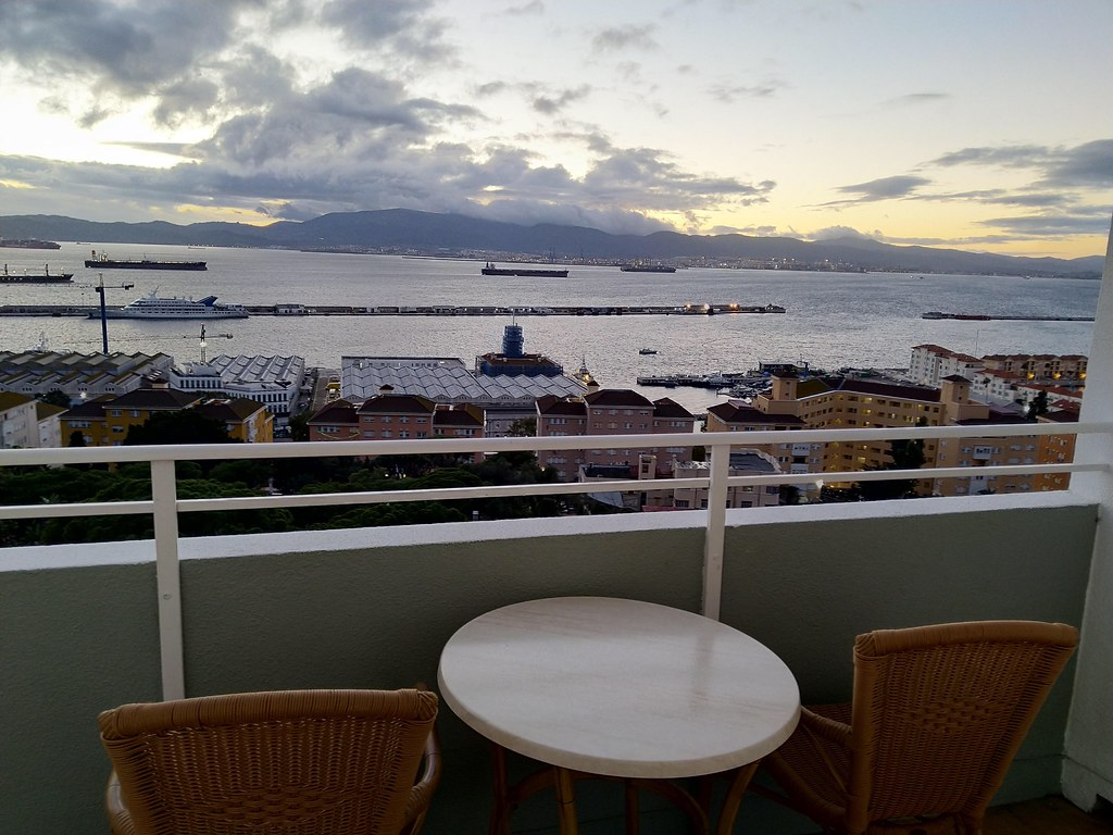 View from balcony of the Rock Hotel, Gibraltar