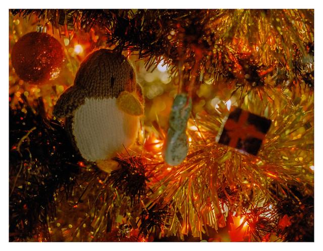 Christmas tree penguin