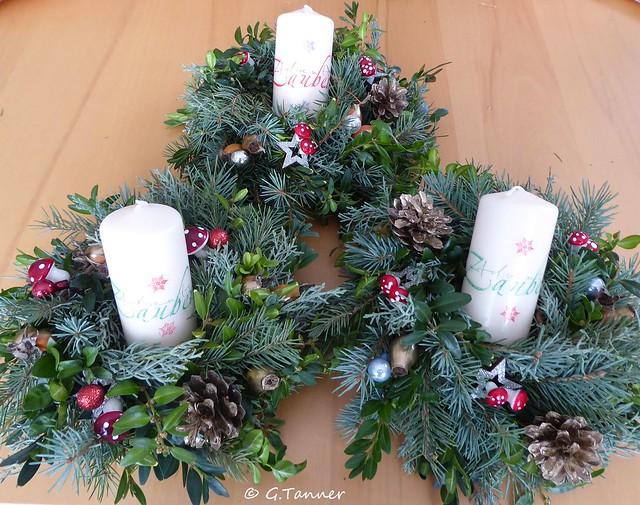 Weihnachtskränze