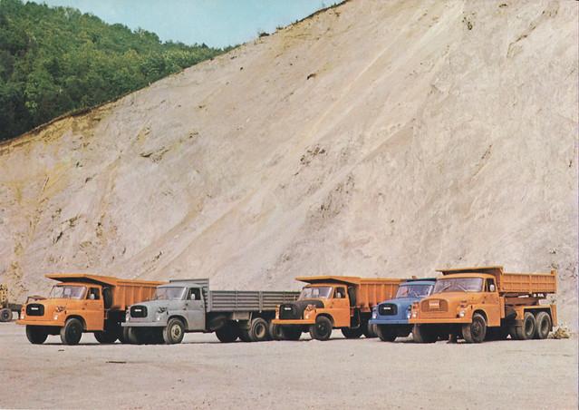 Tatra 148 lineup (Czechoslovak brochure)