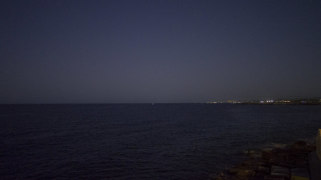 darkness over the sea
