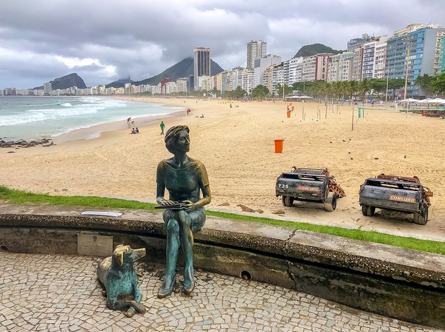 Clarice Lispector Statue, Leme Beach, Rio de Janeiro, Brazil