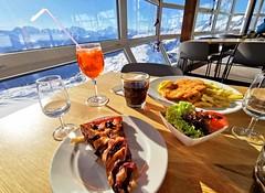 Oběd v panoramatické restauraci na Bettmerhornu