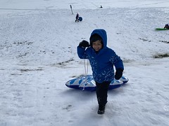 Ezra goes Snow Tubing