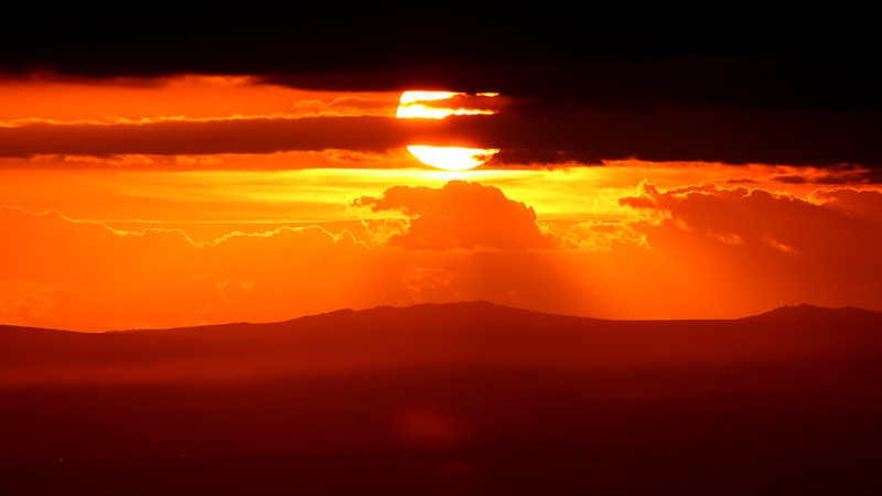Sunset from Corn Ridge, looking to Bodmin Moor