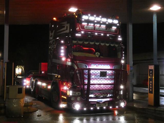 Scania Streamline Topline R V80 CER CER Haulage Lymm Truckstop M6