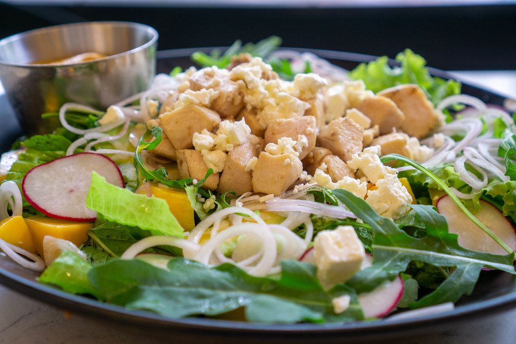 Close Up Food Photo of Mango Curry Chicken Salad with Gril… | Flickr