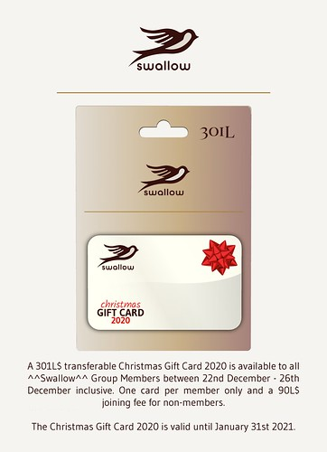 GROUP GIFT - CHRISTMAS GIFT CARD 301L$ (Dec.22nd/Dec.26th, 2020)
