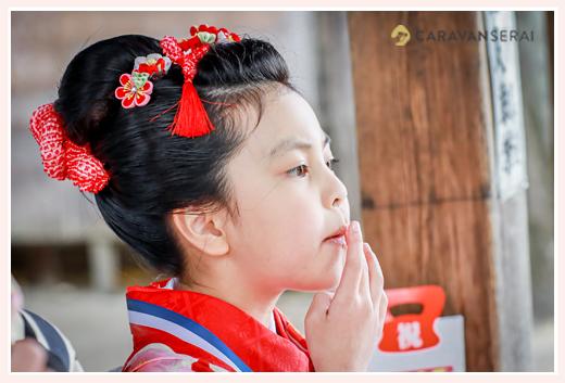 七五三 7歳の女の子 髪形は日本髪