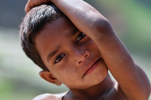 kids children portrait bengal india face expression joy