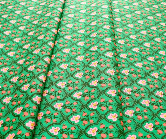 Windham Fabrics Malibu 52151-19 Wood Block Dark Green
