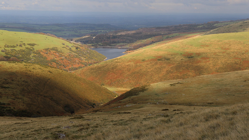 Vellake Corner and Meldon Reservoir beyond.