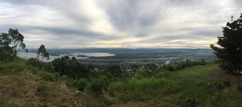 Overzicht op Sentani-vliegveld, Papua