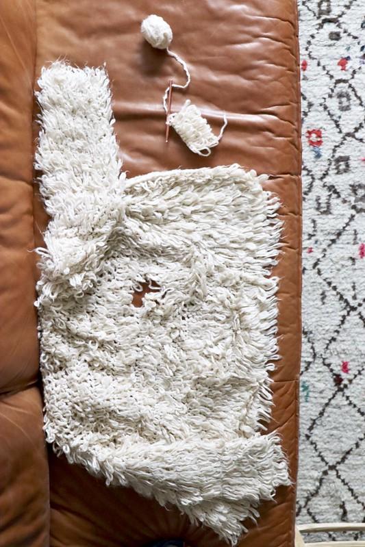 handmade wooly cardigan