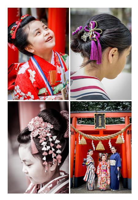 愛知県豊田市の挙母神社で七五三 ヘアスタイル:日本髪