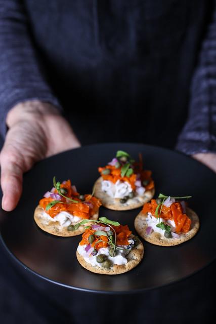 Olives for Dinner | Carrot Lox Crackers