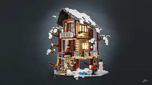 Winter Treehouse Cabin