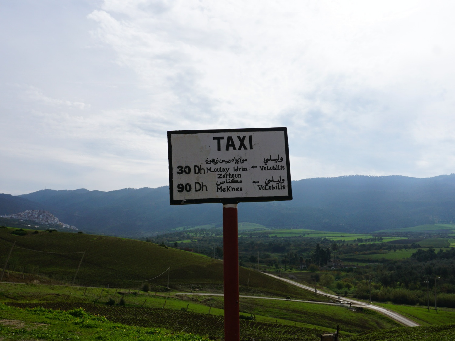 Morocco taxi stand