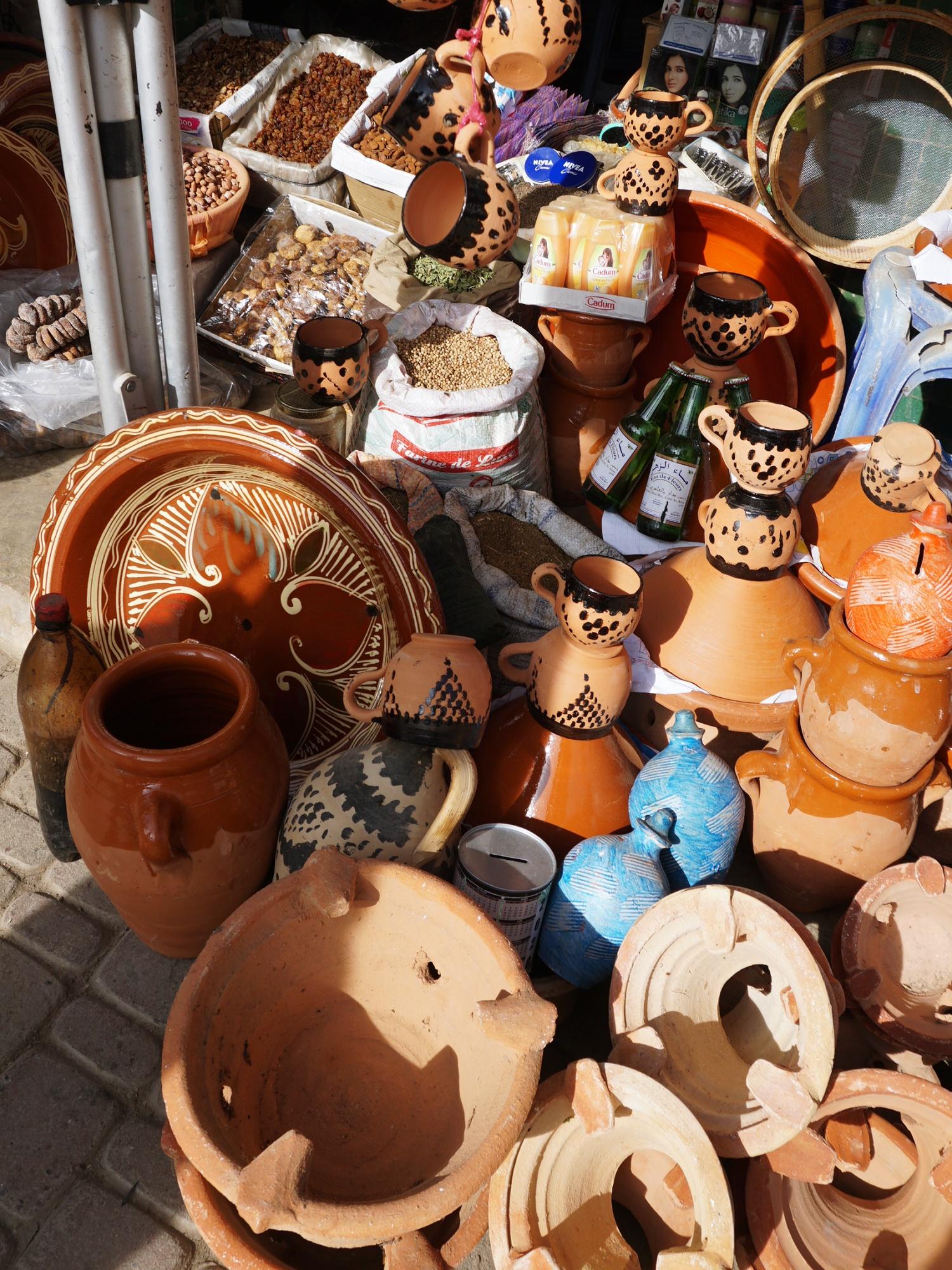 Morocco pottery