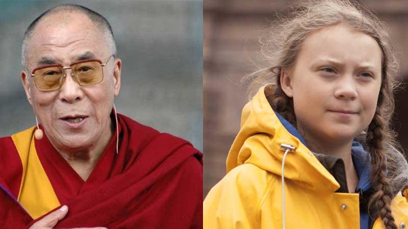 Y.M. Dalai Lama dan aktivis lingkungan Greta Thunberg