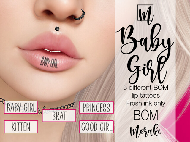 Meraki - Baby Girl  BOM Lip Tattoos