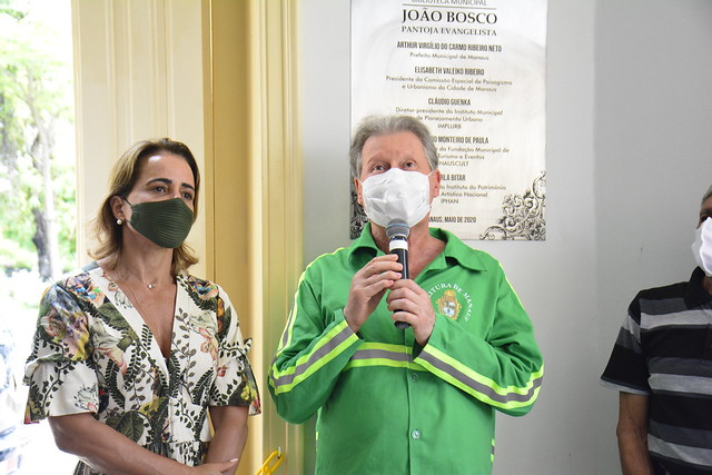 22.12.2020 Inauguração da Biblioteca Municipal João Bosco Pantoja Evangelista prefeito