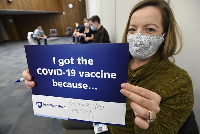 La vacuna COVID-19 en Penn State Health
