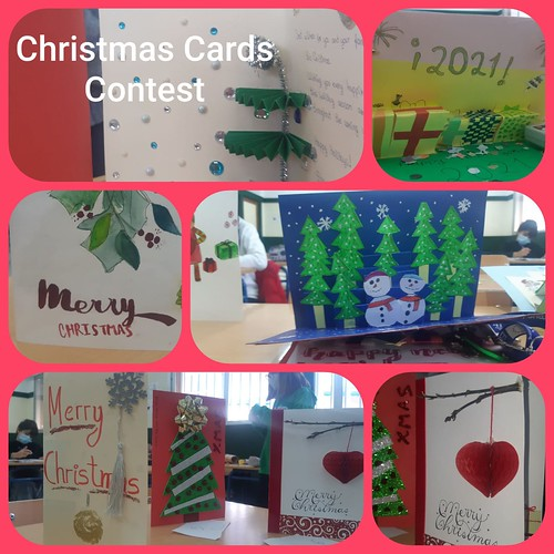 Christmas cards y crackers