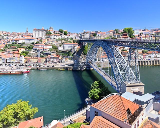 Vistas de Oporto desde el teleférico