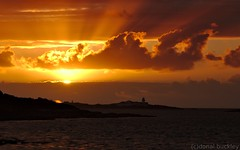 Sunset over Valentia Lighthouse