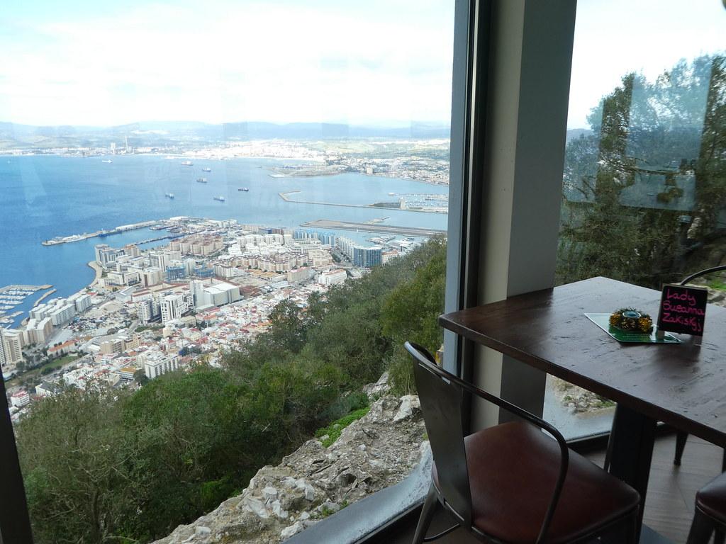 View from Mons Calpe Restaurant, Gibraltar