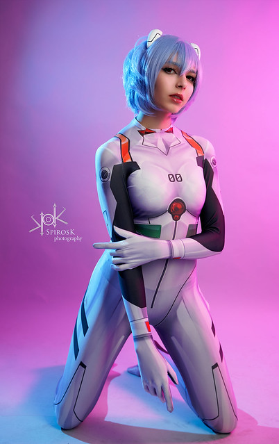 Kawaii Demon as Rei Ayanami from Neon Genesis Evangelion, by SpirosK photo. (III: You are -not- sitting)