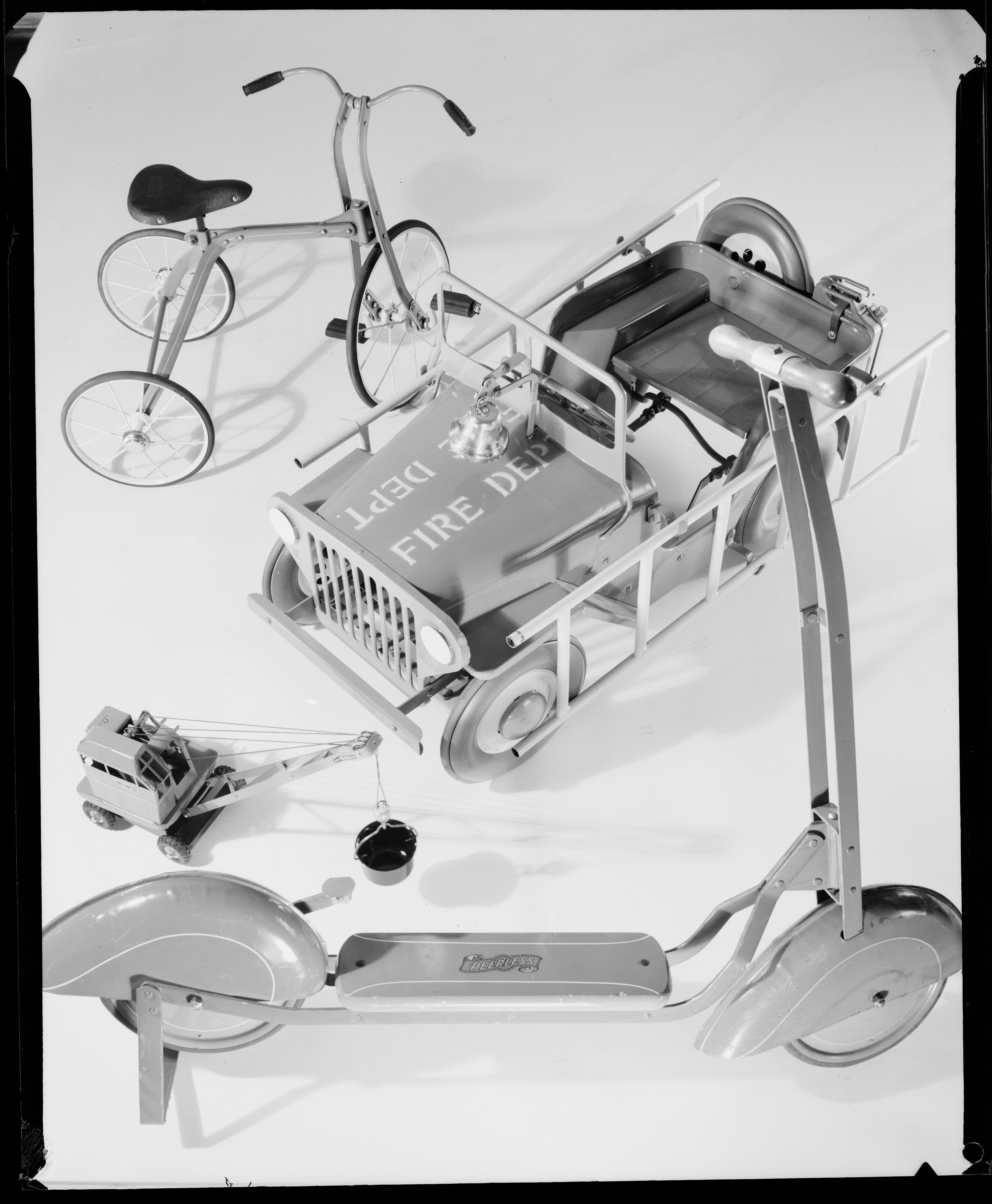 Xmas (Christmas) Toy Arrangement, ca. 1953, photographed by Max Dupain