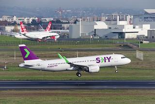 A320n MSN10055 F-WWBV SKY