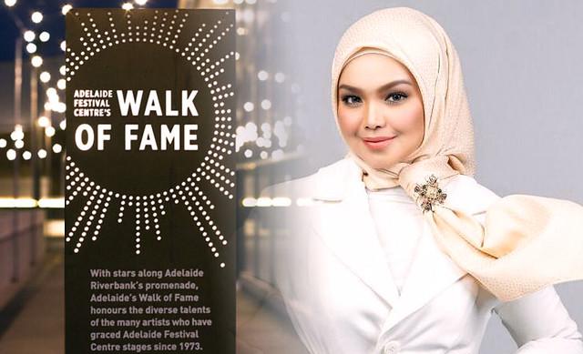 Nama Siti Nurhaliza Bakal Diabadikan Di Walk Of Fame Adelaide
