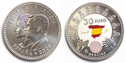Moneda de 30 Euros de plata del 2020