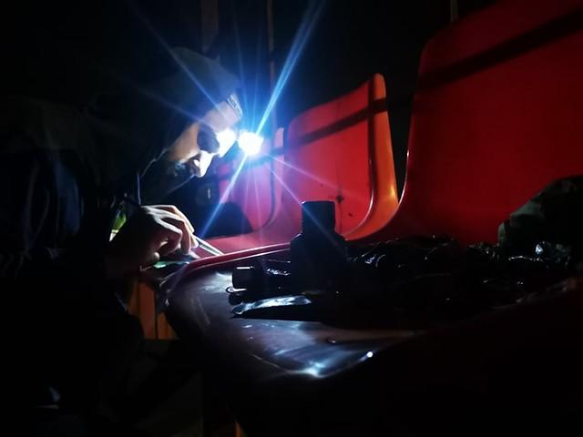 Noaptea la lucru în aer liber