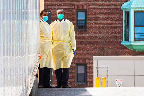 Scene Outside Mount Sinai Hospital in Queens during COVID-19 | by United Nations Photo